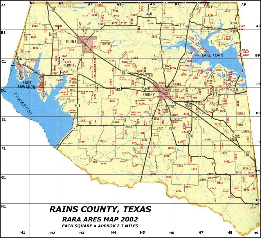 Rains County ARESmap
